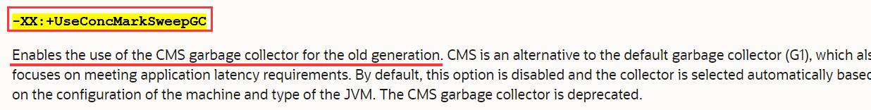 启用CMS收集器